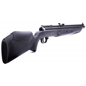 The Benjamin 392S Air Rifle is known for its performance and dependable accuracy. This .22 caliber variable pump features a sleek and lightweight synthetic Monte Carlo stock and fully rifled brass barrel. With velocities up to 685 fps for lead pellets, and up to 800 fps with alloy pellets, this rifle is perfect for small game and pests but equally as good for back yard target practice. Fully adjustable rear sights will help you zero in on your target or you can use the B272 intermount to attach a scope.