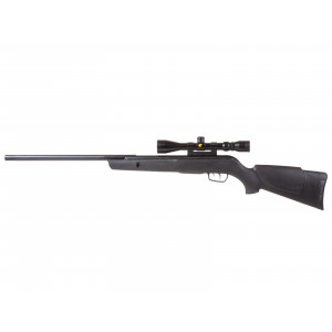 """airgun gamo big cat 1250 5.5 Caliber .22"""" (5.5mm) Max Velocity 950 fps Loudness 4-Medium-High Barrel Length 18.0"""" Overall Length 43.3"""" Shot Capacity 1 Cocking Effort 30 lbs Barrel Rifled Front Sight none Rear Sight none Scopeable 11mm dovetail Trigger Two-stage adjustable Buttplate Ventilated rubber Suggested for Small game hunting/plinking Trigger Pull 3.74 lbs Action Break barrel Safety Manual Powerplant Spring-piston Function Single-shot Body Type Rifle Weight 6.1 lbs Upgrades 3-9x40 scope"""