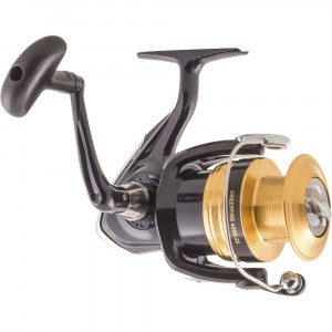 Introducing the young family to fishing? Then it's hard to see past the Sweepfire spinning reels. With just one turn of the handle you'll experience the ultra smooth cranking power of Digigear, perfectly meshed gearing that provides incredible power that will last for years. For ultimate line control the ABS spool delivers effortless casts and maximises distance, plus the Twistbuster eliminates line twist. The Sweepfire is the ideal reel for the young or beginner. CRANK- 95cm WEIGHT- 380g LINE CAPACITY- 270m/0.30mm DRAG- 6kg