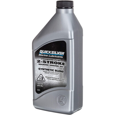 Quicksilver Premium Plus 2-Cycle Oil is a premium oil designed to meet or exceed OEM outboard or personal watercraft manufacturer warranty requirements. It is formulated for use in liquid-cooled, 2-cycle engines with oil injection systems or for premix applications that specify TC-W3 oil.