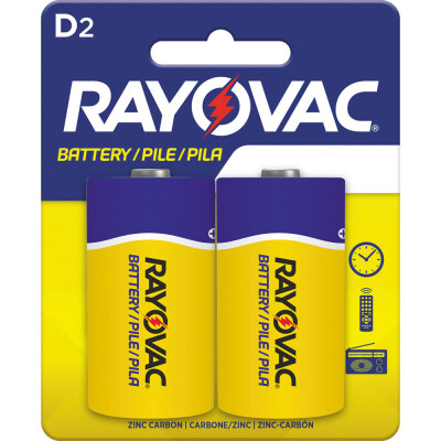 Rayovac's Zinc Chloride D cells are the perfect way to power up devices that run for long times on low amounts of power.
