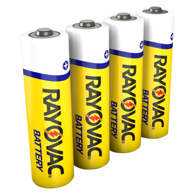 """4 pack """"AA"""" heavy duty battery Ideal solution for low drain or seldom used devices For smoke detectors, radios, clocks, remote controls, & flashlights."""